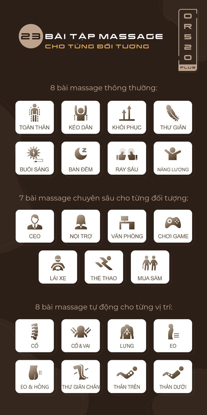 Bài massage trên or-520 plus