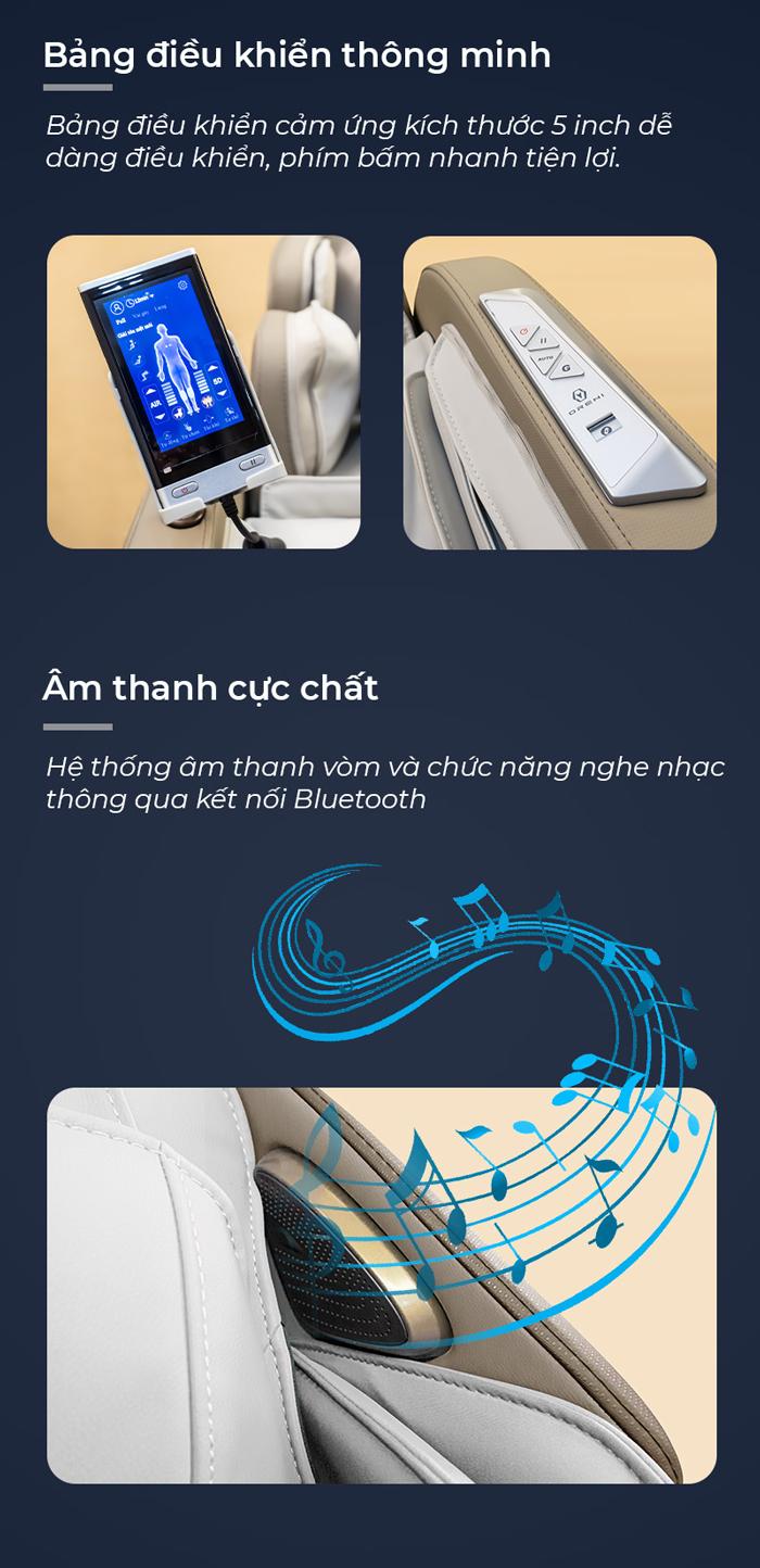 Bảng điều khiển trên ghế massage Oreni OR-500