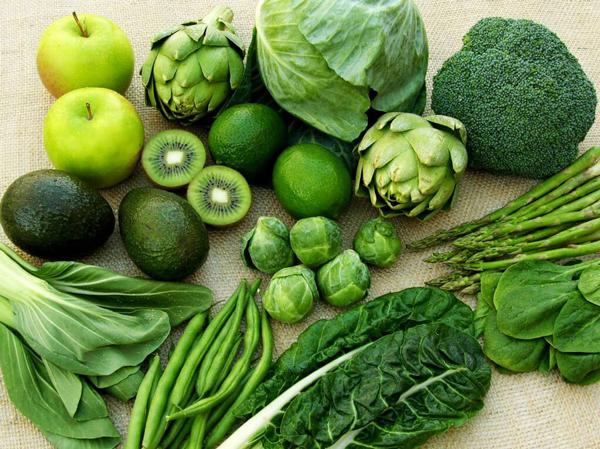 Các loại rau có màu xanh đậm nhiều vitamin B2