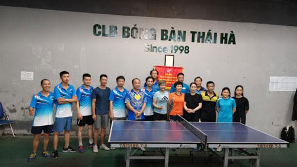 CLB Bóng bàn phát triển mạnh mẽ ở bể bơi Thái Hà