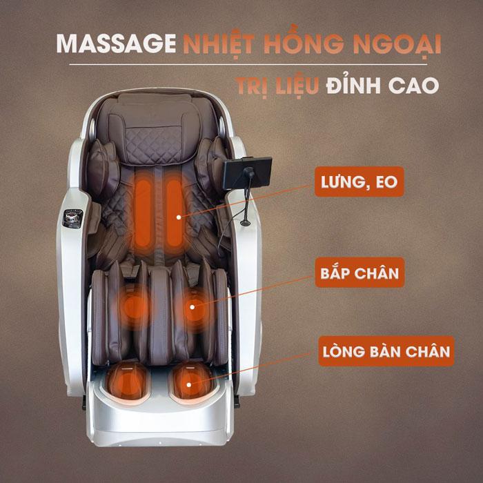 Nhiệt hồng ngoại trên ghế massage Oreni OR-350