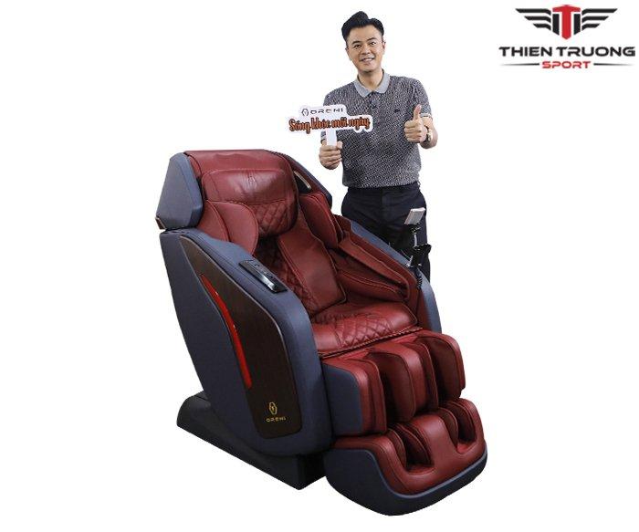 Ghế massage Oreni OR-500 với con lăn 5D, hỗ trợ Tiếng Việt