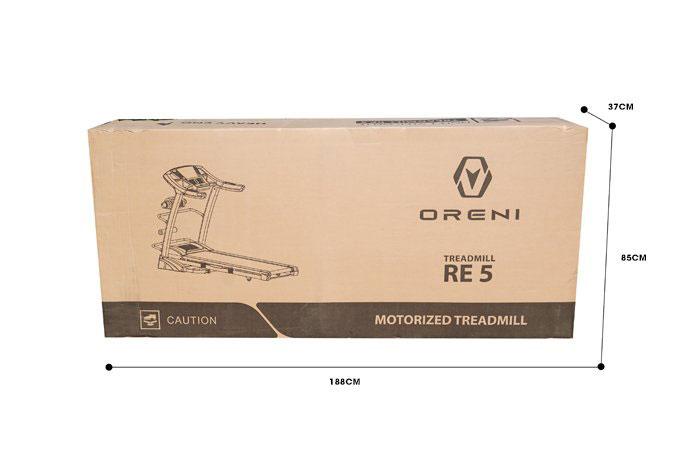 Kích thước thùng máy chạy bộ điện Oreni RE-5