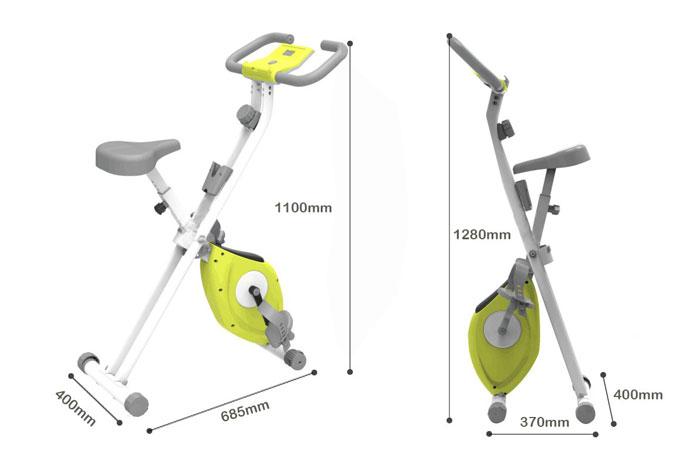 Kích thước xe đạp tập X-Bike