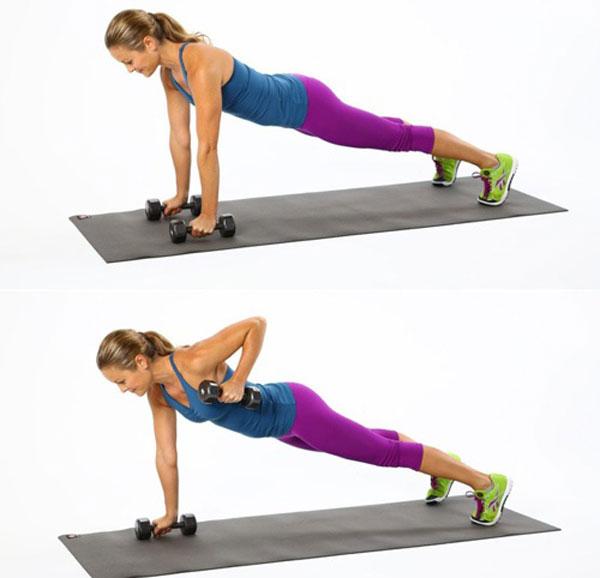 Bài tập Plank nâng tay đơn giản.