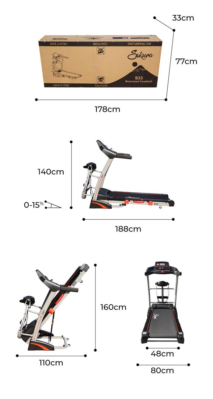 Thông số máy chạy bộ điện Sakura S33