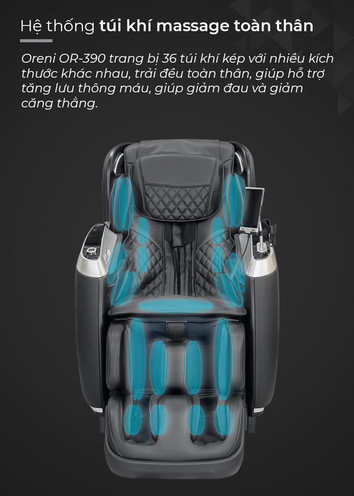 Túi khí trên ghế massage Oreni OR-390