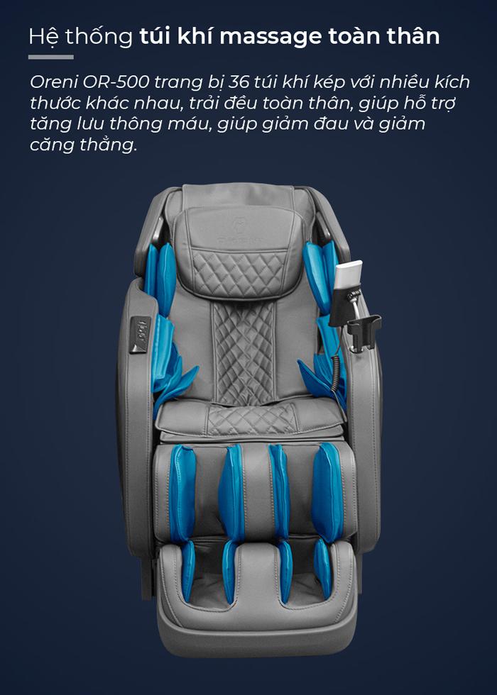 Túi khí trên ghế massage Oreni OR-500