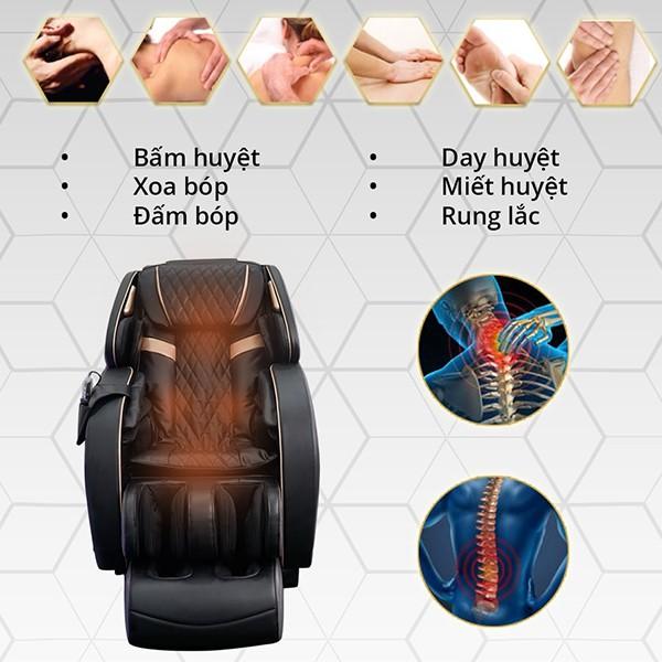6 kỹ thuật massage ghế Fuji Luxury FJ 790 Plus
