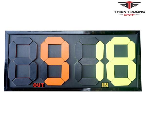 Bảng thay người bóng đá SA-107 tiêu chuẩn thi đấu giá rẻ Nhất