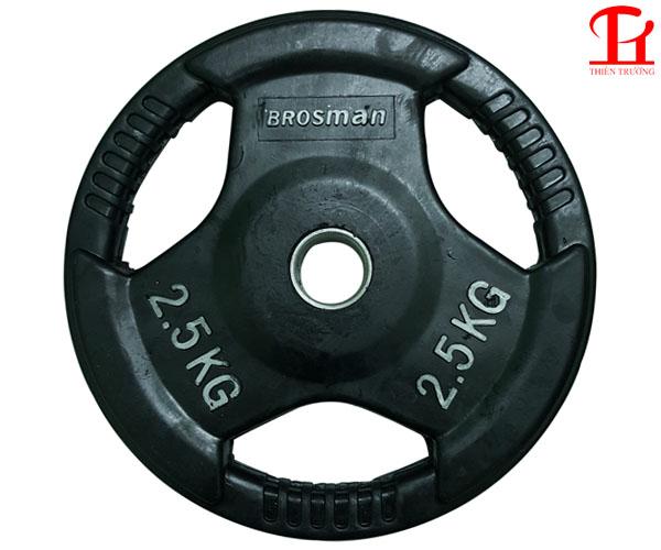 Bánh tạ Brosman cao su dùng cho phòng tập Gym giá rẻ Nhất !
