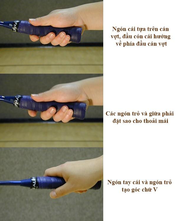 Cầm vợt cầu lông thuận tay - 3