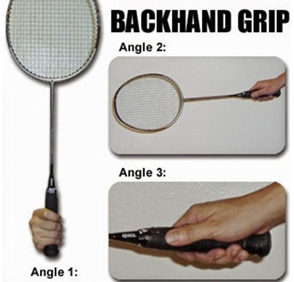 Cầm vợt cầu lông trái tay