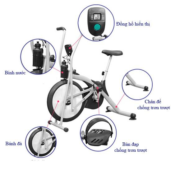 Cấu tạo xe đạp tập Air Bike