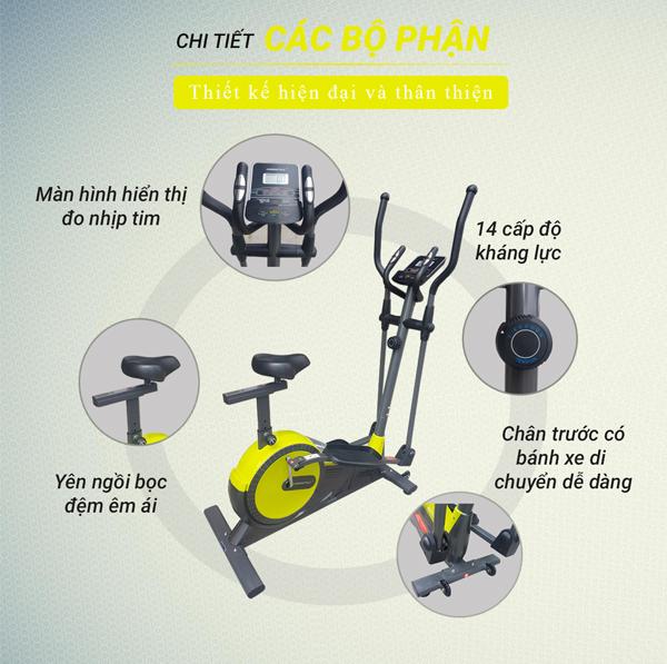 Cấu tạo xe đạp tập thể dục BC89502