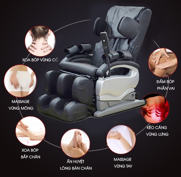 Chức năng ghế Massage 14 Rollers Electric Massage Chair
