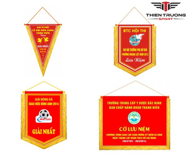 Cờ lưu niệm bóng đá, cờ trao giải thể thao giá rẻ nhất Việt Nam