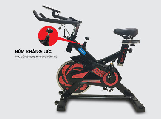Điều chỉnh kháng lực xe đạp tập YB-7800