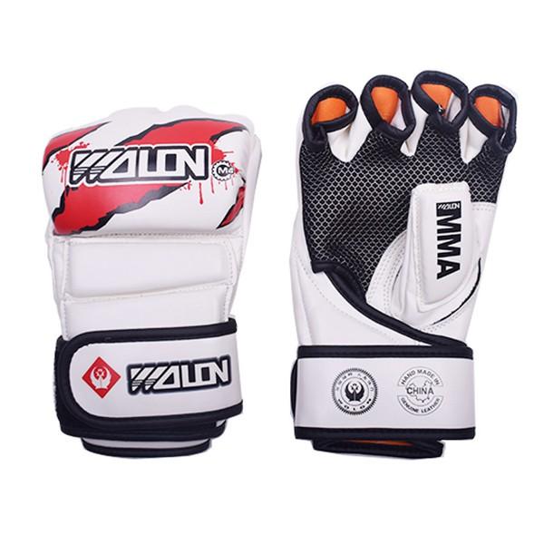 Găng tay MMA Wolon trắng