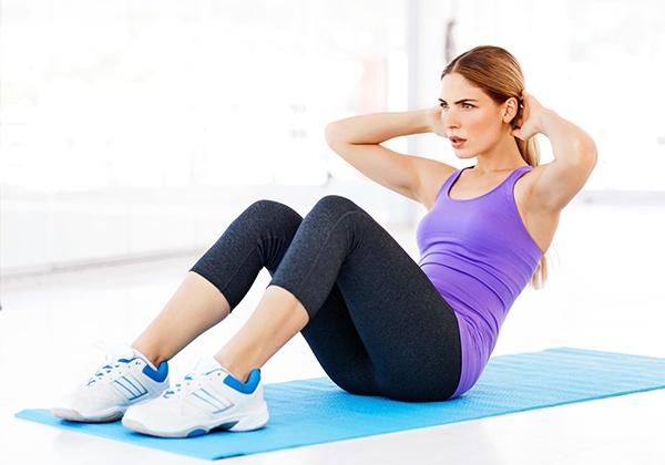 Gập bụng giảm mỡ sau sinh