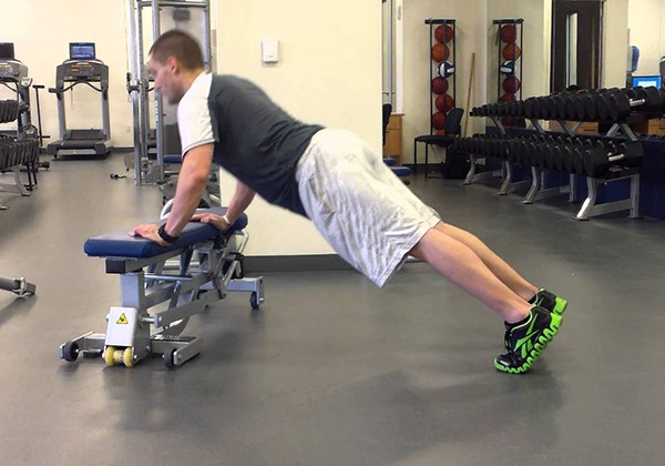 Hands Elevated Push Up