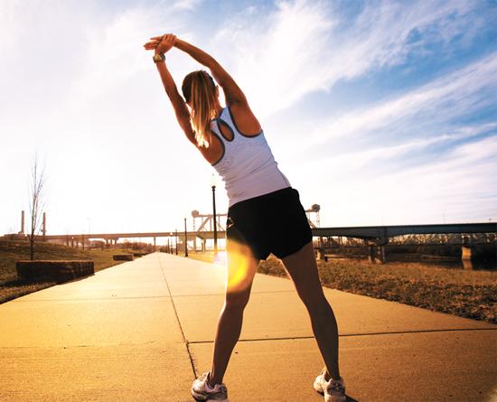 Khởi động trước khi chạy bộ buổi chiều