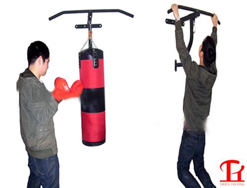 Xà đơn kết hợp khung treo bao cát đấm Boxing Xuki