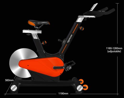Kích thước xe đạp tập Egymcom Q6
