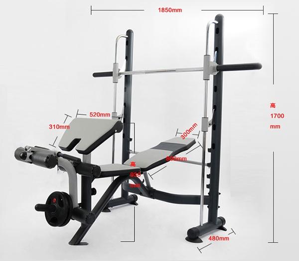 Kích thước ghế tập tạ Power Rack FX32