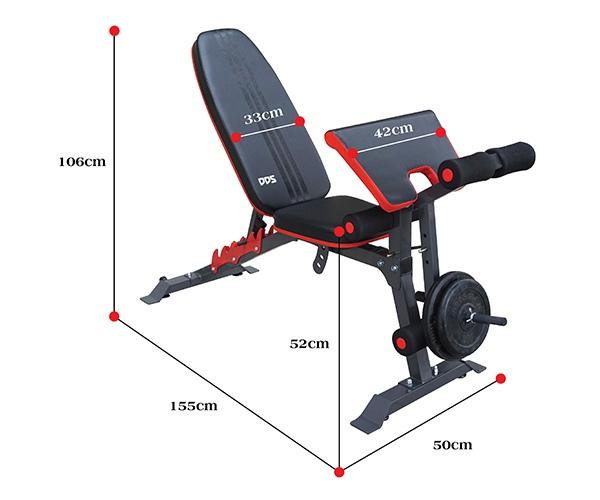 Kích thước ghế tập Gym DDS-1205