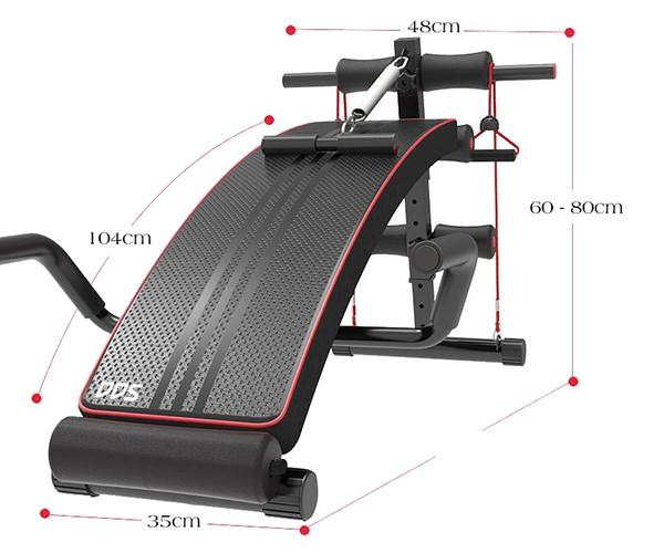 Kích thước ghế tập bụng DDS-104