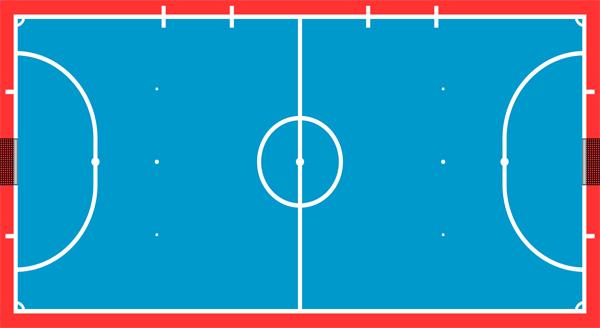 Kích thước sân bóng đá Futsal trong nhà đạt tiêu chuẩn thi đấu?