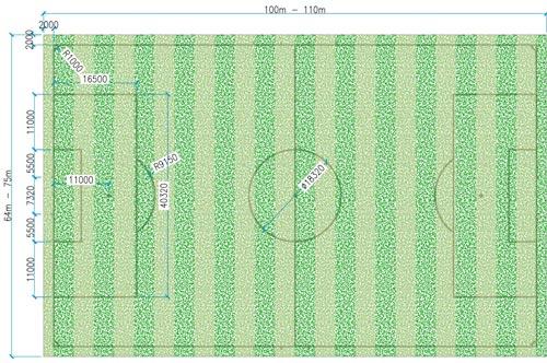 Kích thước sân bóng đá 11 người tiêu chuẩn