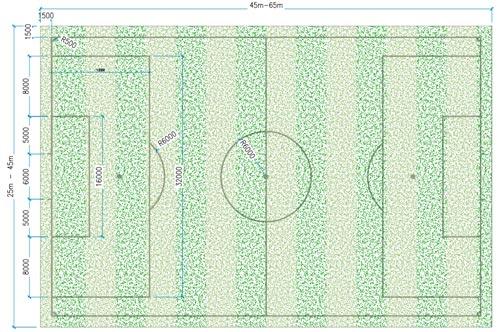Kích thước sân bóng đá 7 người tiêu chuẩn