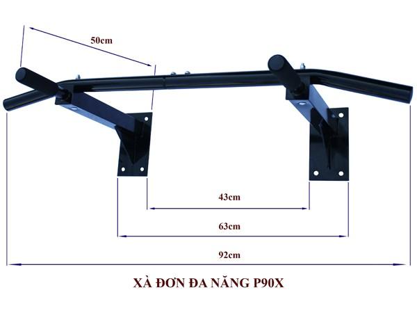 Kích thước xà đơn đa năng P90X