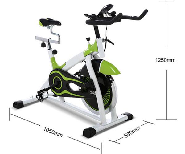 Kích thước xe đạp tập Spin Bike