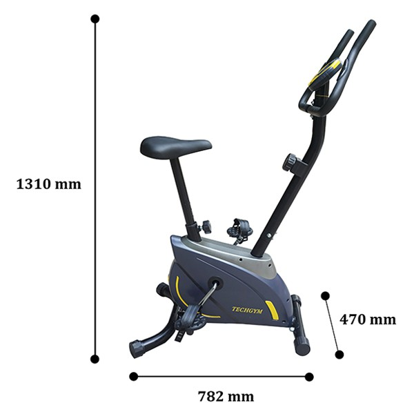 Kích thước xe đạp tập Techgym HQ-02