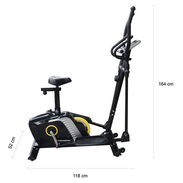 Kích thước xe đạp tập Techgym HQ 1800