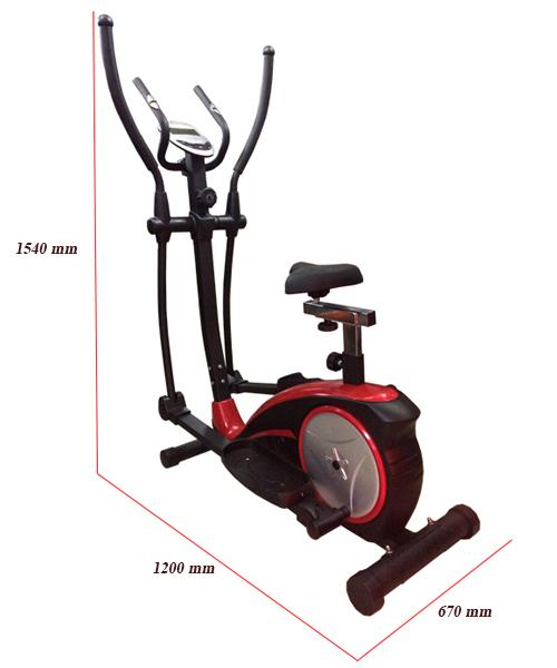 Kích thước xe đạp tập Viking VK-8601HA