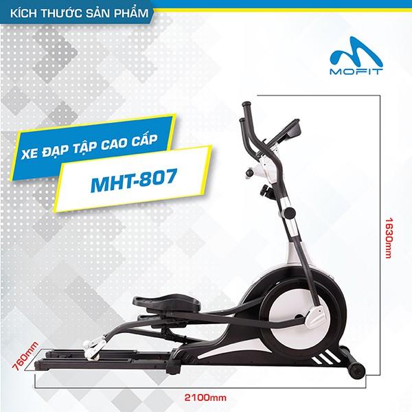 Kích thước xe đạp tập thể dục Mofit 807A