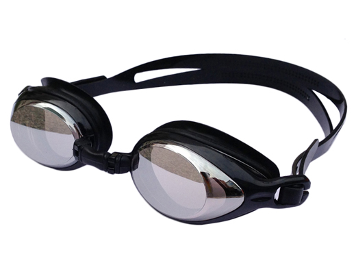Kính bơi tráng gương Aryca WG6A màu đen