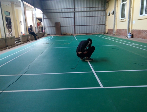 Làm sân cầu lông tại Huyện Mường Nhé - Điện Biên