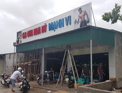 Thi công, lắp đặt phòng tập Gym tại Cẩm Phả - Tp Quảng Ninh