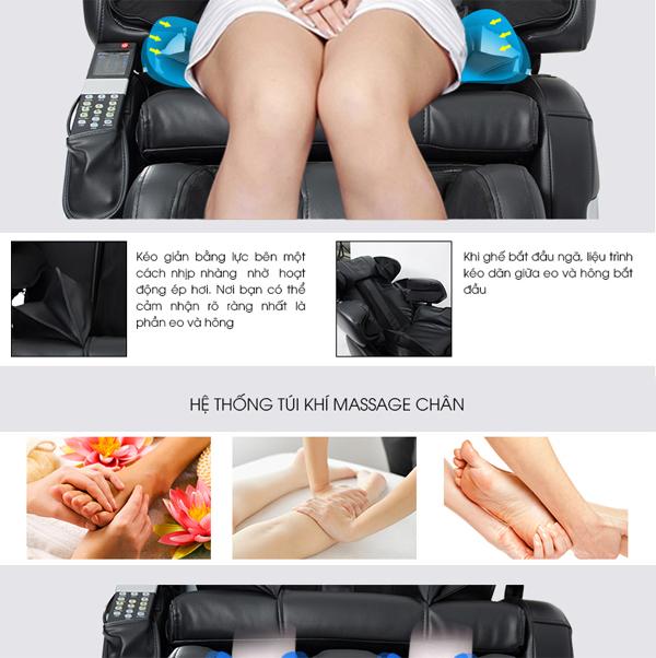 Massage chân với ghế Massage 14 Rollers