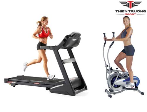 Máy chạy bộ và xe đạp tập thể dục