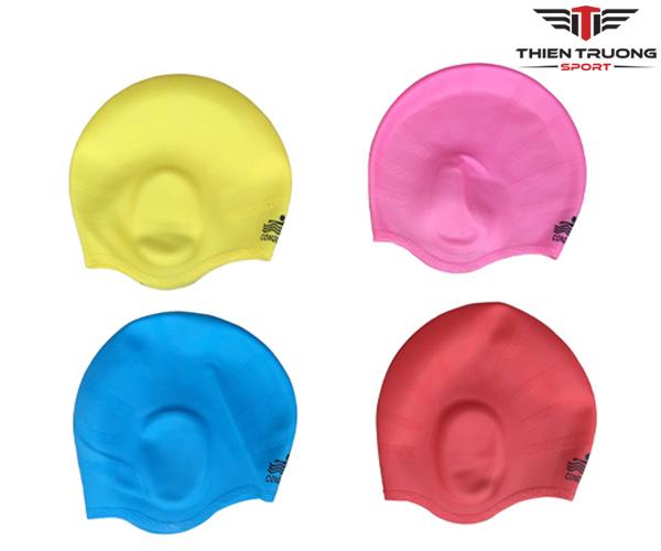 Mũ bơi che tai Conquest cực xịn và giá rẻ ở Thiên Trường Sport