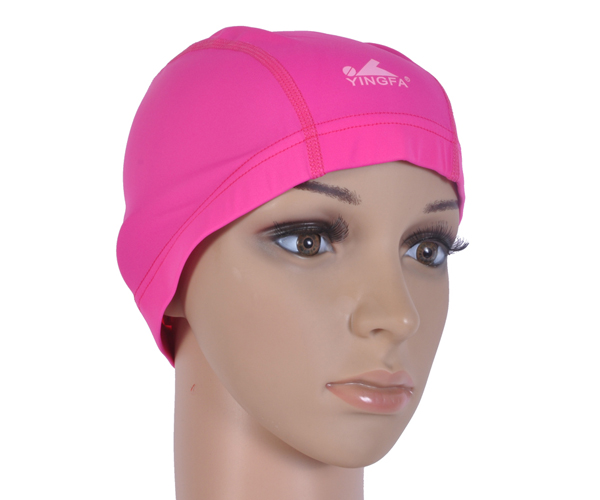 Mũ bơi vải Yingfa hồng