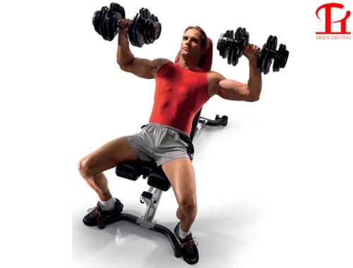 Đẩy ngực với ghế Bowflex