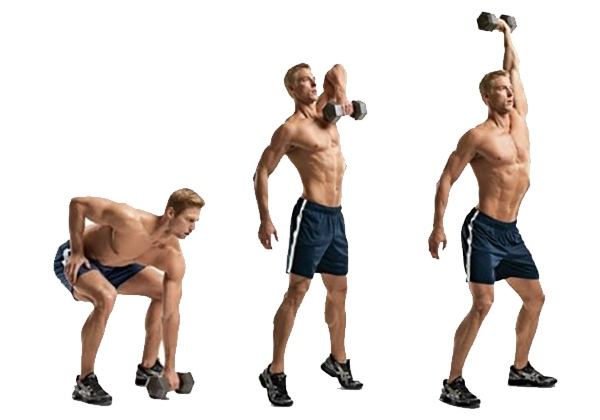 One-Arm Dumbbell Snatch