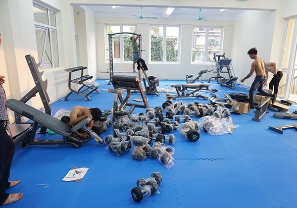 Dự án lắp đặt phòng tập Gym tại Đoàn nghi lễ Quân đội Việt Nam